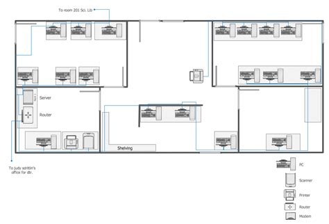 How To Draw A Floor Plan On The Computer network layout floor plans local area network lan
