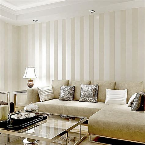 Paint Colors For Dining Rooms hot sale metallic wide stripe modern wallpaper for wall