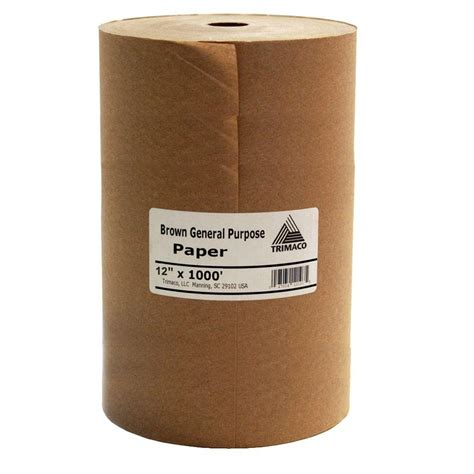 home depot paint paper easy mask 12 in x 1000 ft brown masking paper 12107