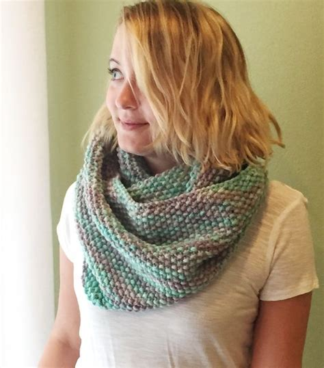free easy infinity scarf knitting pattern free seed stitch infinity scarf pattern almost identical
