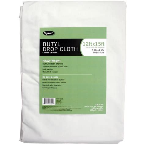home depot paint drop sigman 11 ft 6 in x 14 ft 6 in butyl drop cloth