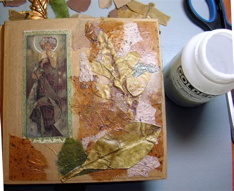 exles of decoupage tutorial forest floor textured journal cover technique