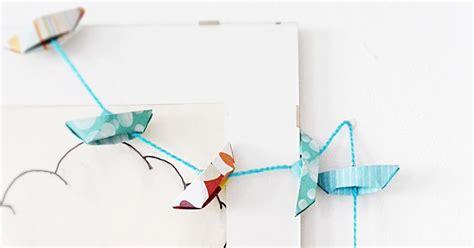 origami garland meeha meeha origami boat garland