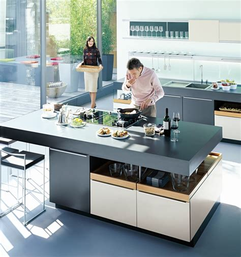 stove in island kitchens kitchens from german maker poggenpohl