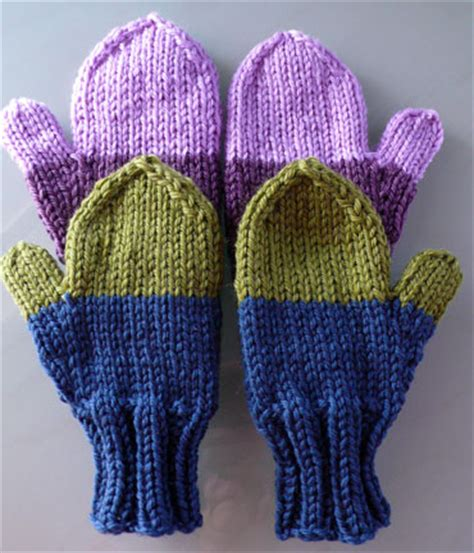 free knitting pattern for mittens on 2 needles knitting pattern 2 needle mittens 1000 free patterns