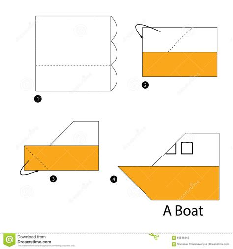 how to make a origami boat step by step step by step how to make origami boat stock