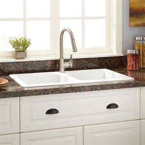 white composite kitchen sinks 34 quot evart bowl drop in granite composite sink