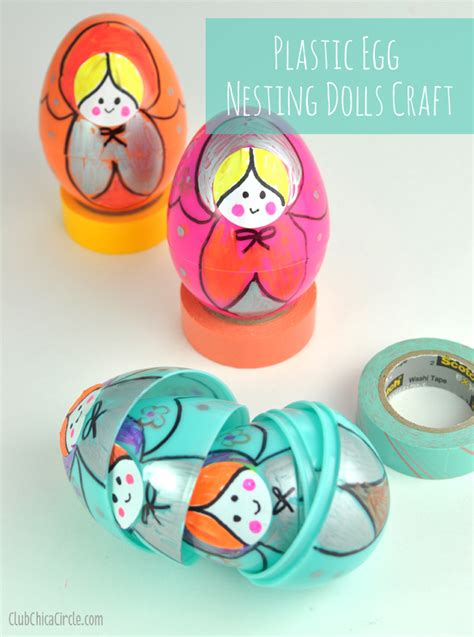 russian craft projects plastic egg russian nesting dolls craft idea club chica