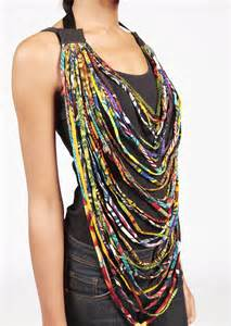 Diy Ankara Rope Necklace Tribeappeal