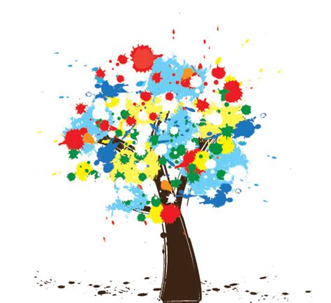 colorful tree colorful tree 1 free images at clker vector clip