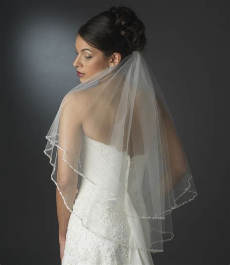 beaded wedding veil dazzling beaded edge bridal veil bridal