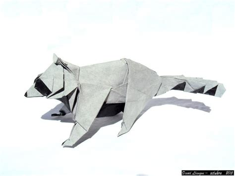 origami raccoon this week in origami 3d tessellation edition