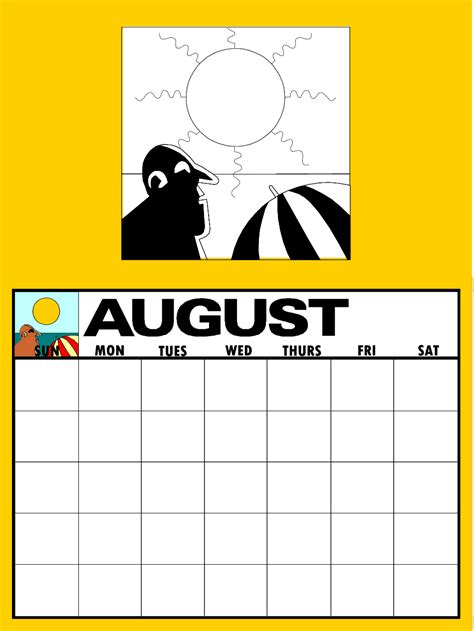 august crafts make your own calendar primarygames