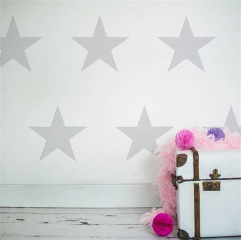 Large Childrens Wall Stickers large stars decorative wall stickers by nutmeg