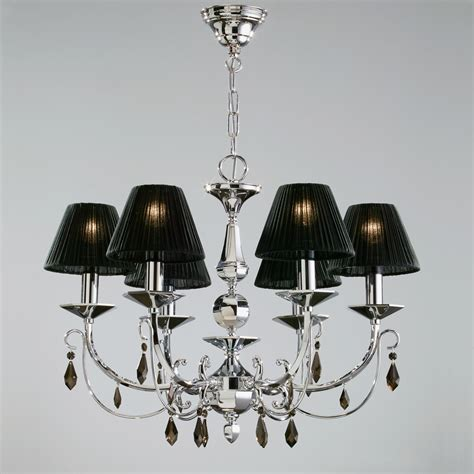 lshade chandelier chandelier with black shades primo mid century modern
