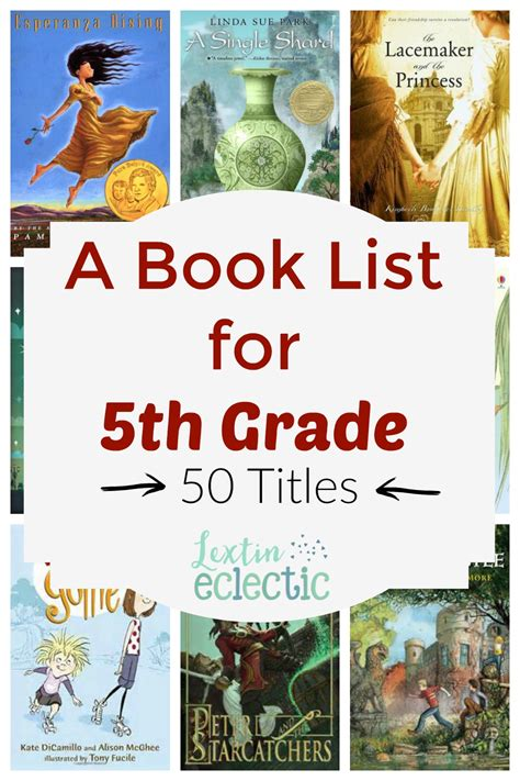 Book List 5th Grade Reading List Lextin Eclectic