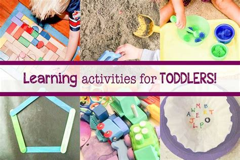learning crafts for 14 learning activities for toddlers on as we grow