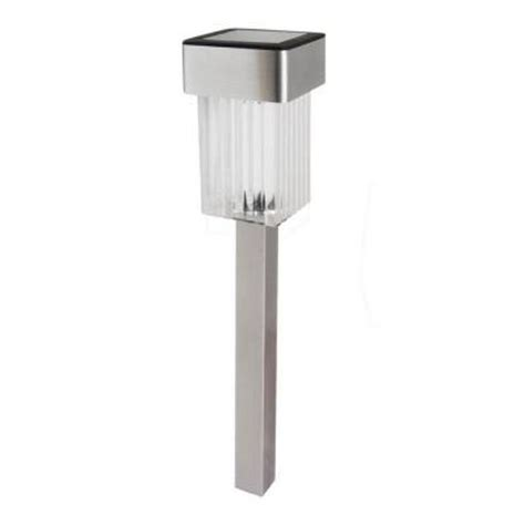 solar outdoor lights home depot malibu led solar mini square outdoor stainless stake light