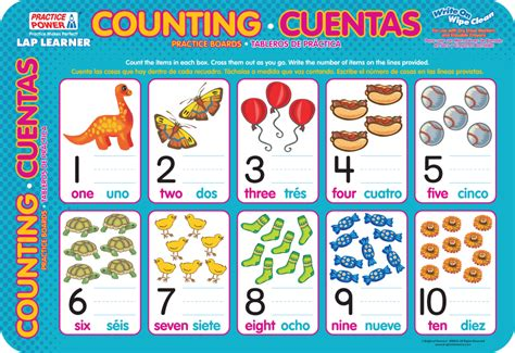 Counting Learner Boards Bilingual Erase