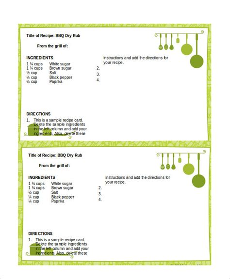 how to make recipe cards on word recipe card template for mac