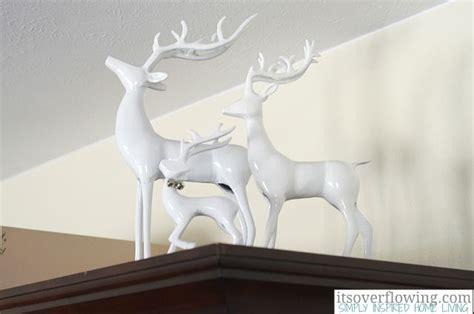 white reindeer decorations white reindeer decor