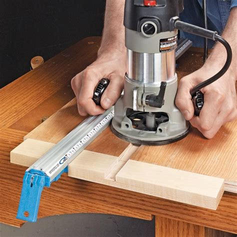 woodworking guide simple router dado guide woodsmith tips