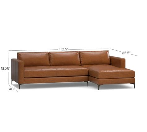 sectional leather sofas with chaise jake leather sofa with chaise sectional pottery barn