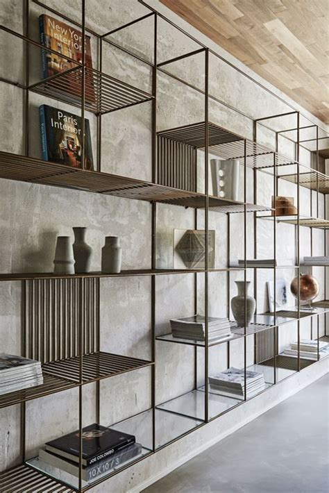 metal and glass bookshelves 25 best ideas about metal shelves on metal