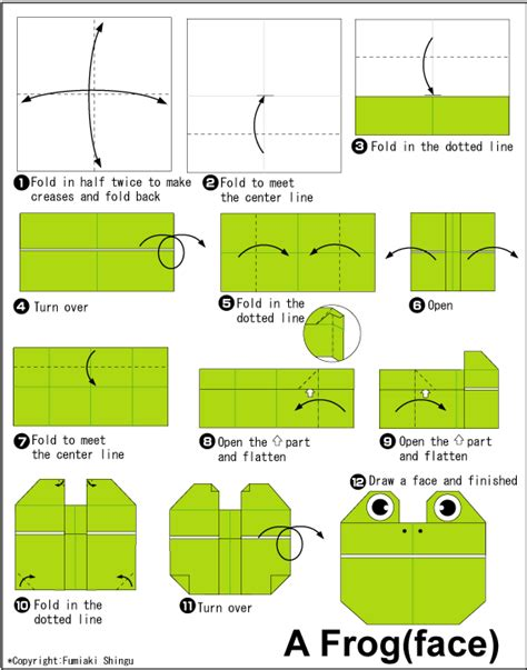 how to make an easy origami frog origami frog