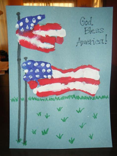flag craft for handprint flag patriotic crafts for
