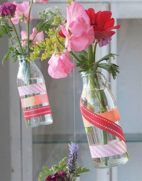 washi craft projects washi vase and jar decor