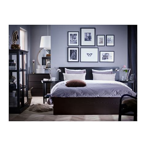 ikea bed malm malm bed frame with 4 storage boxes black brown lur 246 y