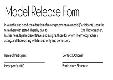 model release form keeping control over your personal