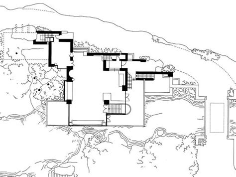 fallingwater floor plans falling water house plan numberedtype