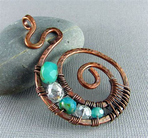 copper wire for jewelry wire wrapped pendant handmade jewelry wire wrapped jewelry