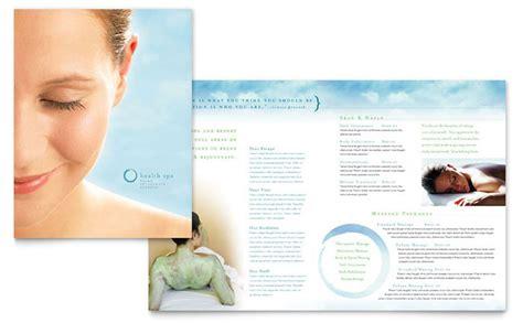 day spa amp resort brochure template design