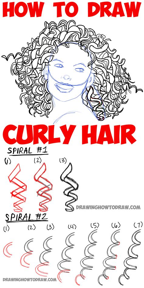 how to draw curly hair hair color jpg tutorials how to draw curly hair