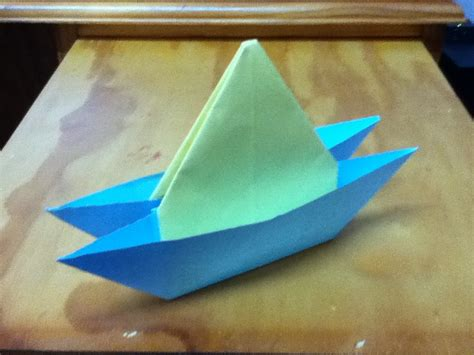 origami sailboat that floats how to make an origami yacht catamaran or two hull boat