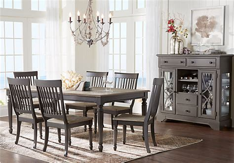 gray dining room furniture home grove gray 5 pc dining room