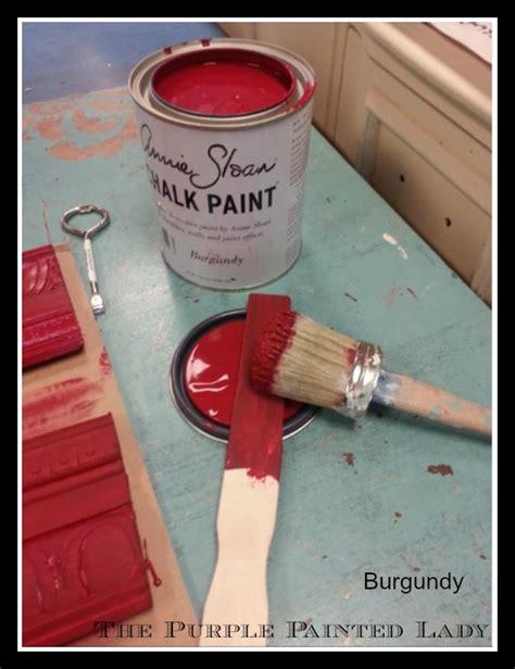 does b q sell sloan chalk paint burgundy color change the purple painted chalk paint