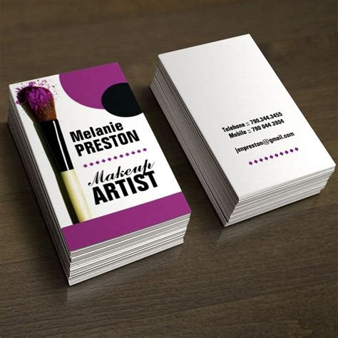 up cards to make 1000 images about makeup artist business cards on