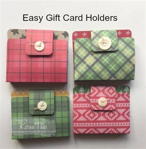 gift card holders to make how to make the easiest gift card holder