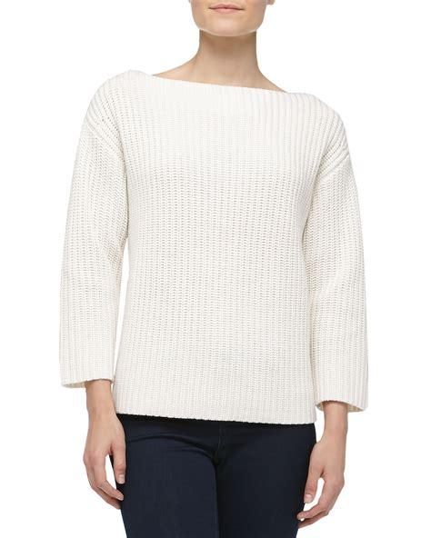 shaker knit sweater michael kors boxy shaker knit sweater in white lyst
