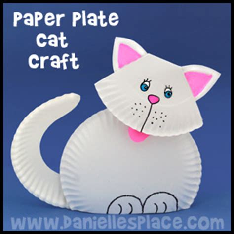 cat paper plate craft cat and kitten crafts for