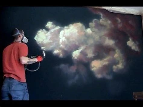 spray painting sky how to paint a cloud airbrush mural 5hr in 11 min