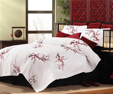 cherry blossom comforter set new asian cherry blossom style king size comforter