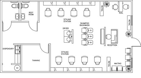 floor plan of a salon salon floor plan design layout 1160 square foot