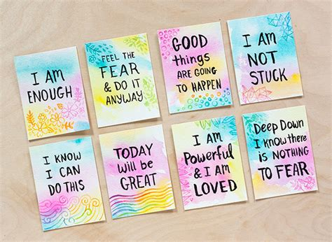 Diy Watercolor Affirmation Cards
