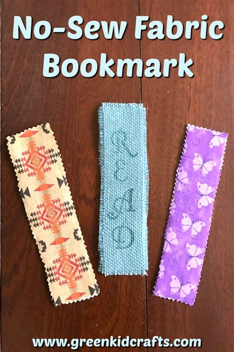 no sew crafts for diy no sew fabric bookmark craft for green kid crafts
