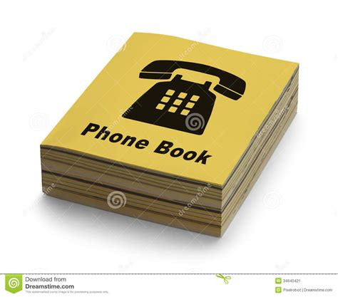 book cover picture phone book stock image image of listing information